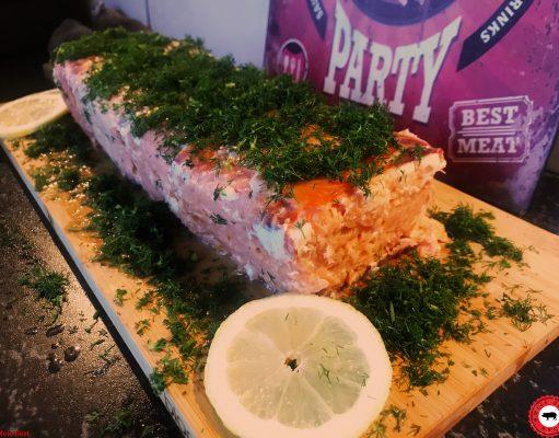 Gerookte zalm cake van Mele Best
