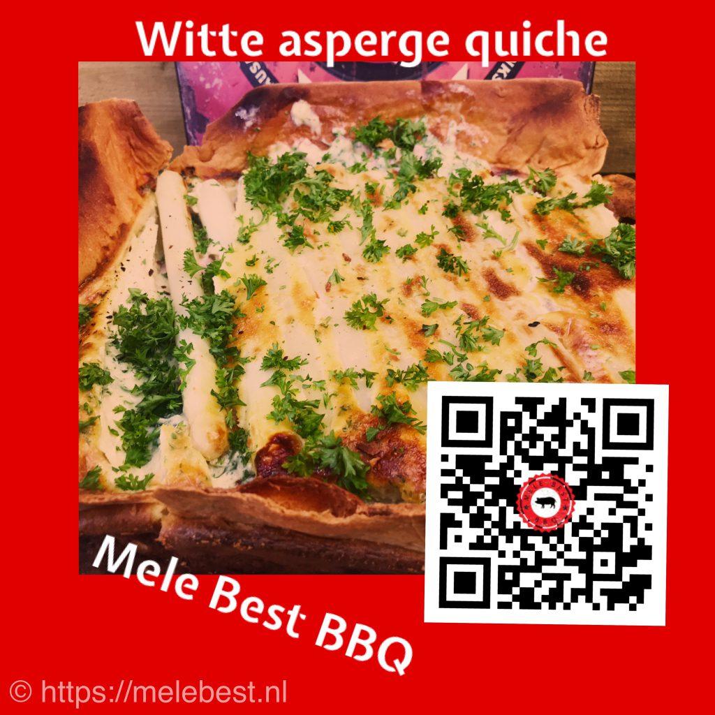 Witte asperge quiche van Mele Best