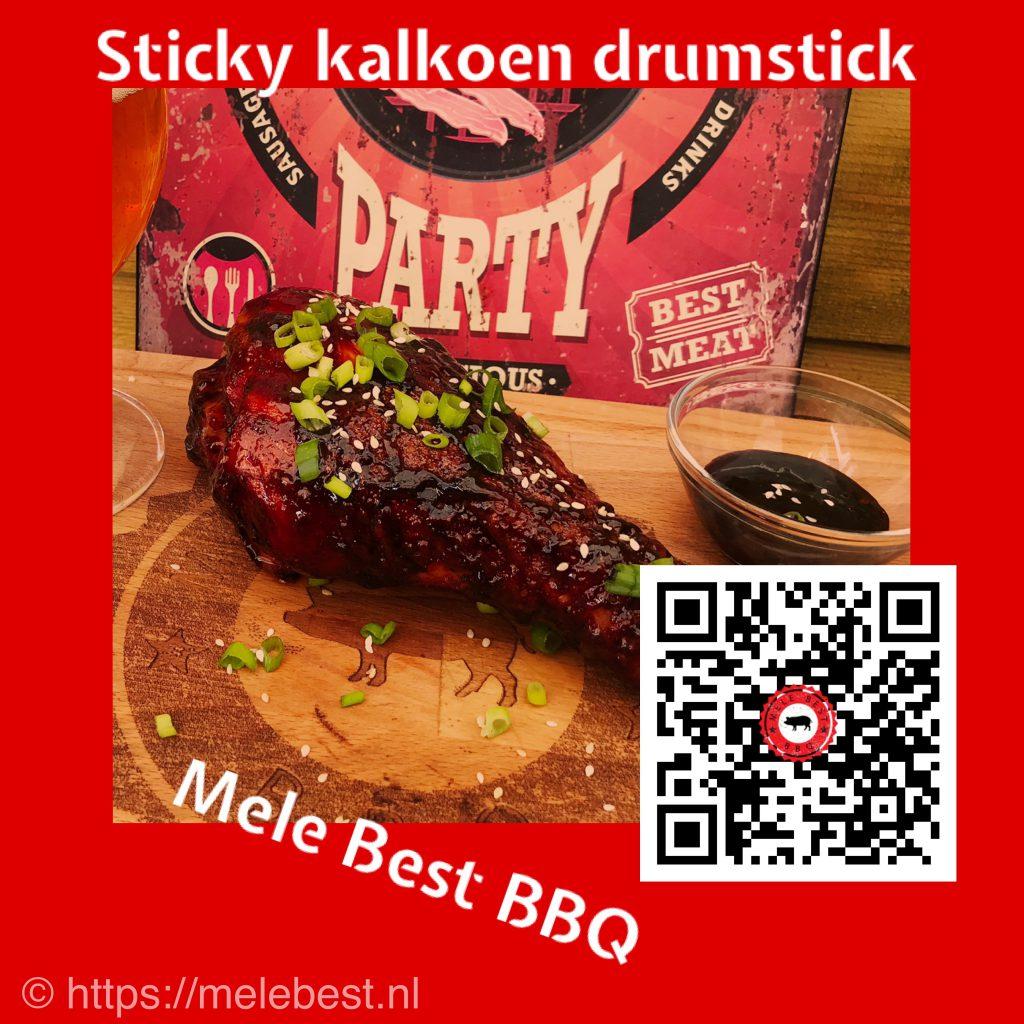 Sticky kalkoen drumstick